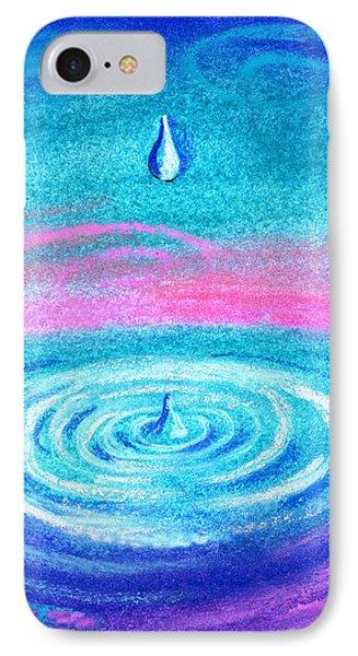 Water Drop IPhone Case by Leon Zernitsky