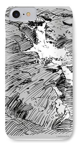 Water Fall Rocky Mountains IPhone Case