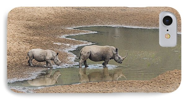 Water For Rhinos IPhone Case