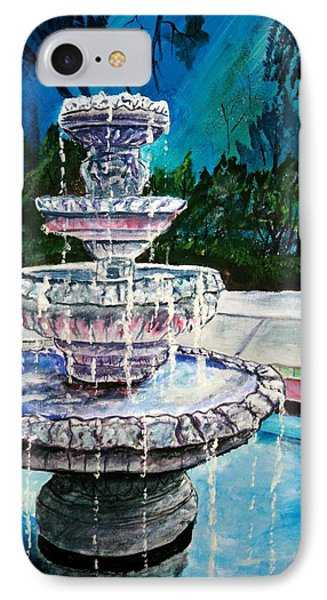 Water Fountain Acrylic Painting Art Print Phone Case by Derek Mccrea