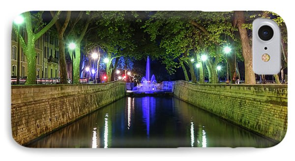 IPhone Case featuring the photograph Water Fountain At Night by Scott Carruthers