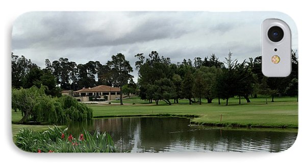 Water Hazard At Number Five Santa Maria Country Club 2 IPhone Case by Barbara Snyder