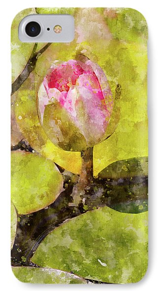 Water Hyacinth Bud Wc Phone Case by Peter J Sucy