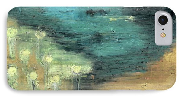 IPhone Case featuring the painting Water Lilies At The Pond by Michal Mitak Mahgerefteh