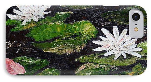 Water Lilies I IPhone Case by Marilyn Zalatan