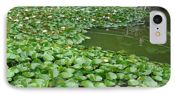 Water Lilies In The Moat IPhone Case