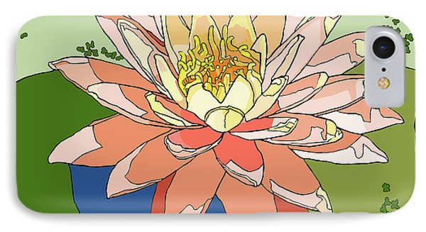 Water Lily And Duck Weed IPhone Case by Jamie Downs