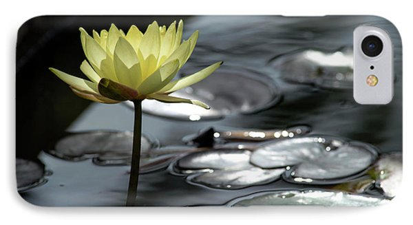 Water Lily And Silver Leaves IPhone 7 Case