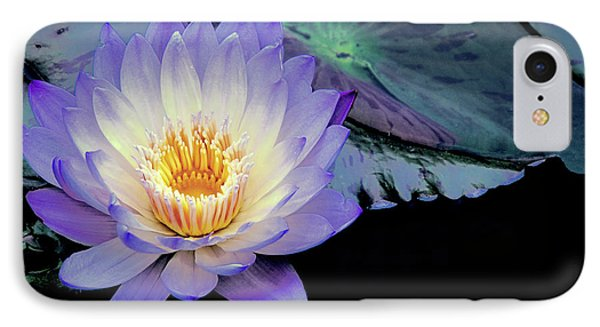 IPhone Case featuring the photograph Water Lily In Lavender by Julie Palencia