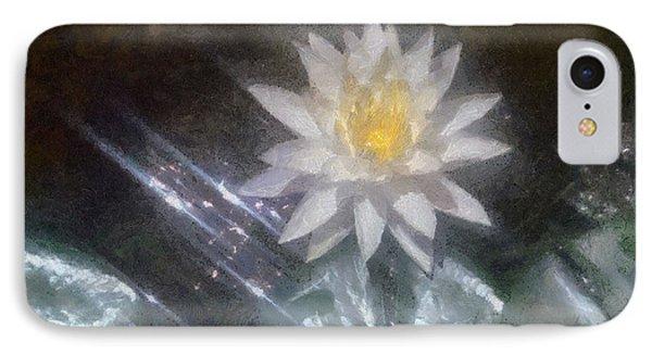 Water Lily In Sunlight IPhone Case by Jeff Kolker