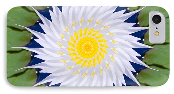 IPhone Case featuring the photograph Water Lily Kaleidoscope by Bill Barber