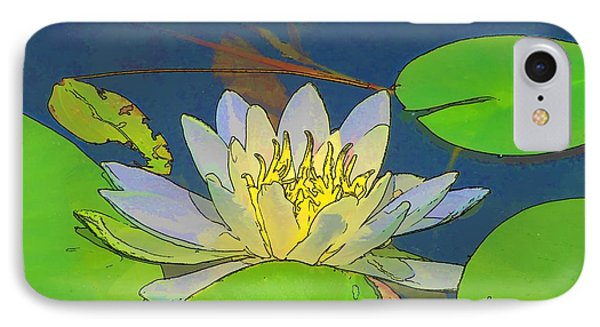 IPhone Case featuring the digital art Water Lily by Maciek Froncisz