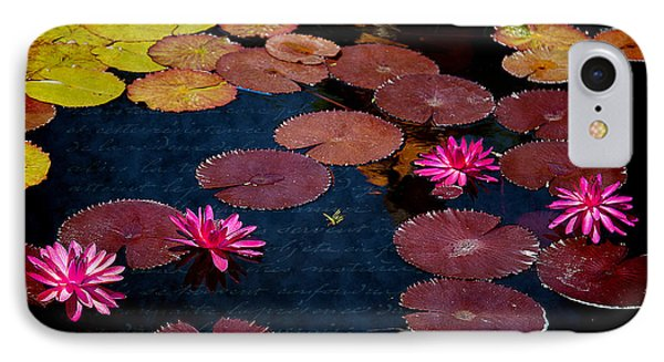 Water Lily World IPhone Case by Milena Ilieva