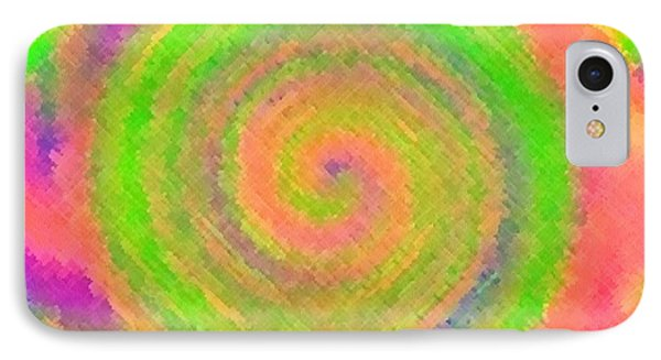 IPhone Case featuring the digital art Water Melon Whirls by Catherine Lott