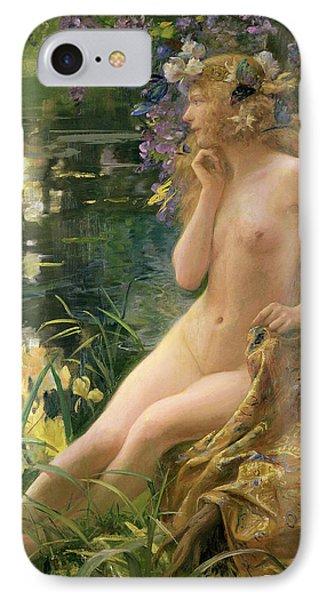Water Nymph IPhone Case by Gaston Bussiere