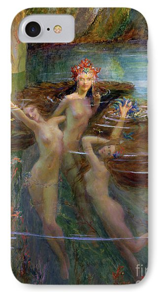 Water Nymphs IPhone Case by Gaston Bussiere