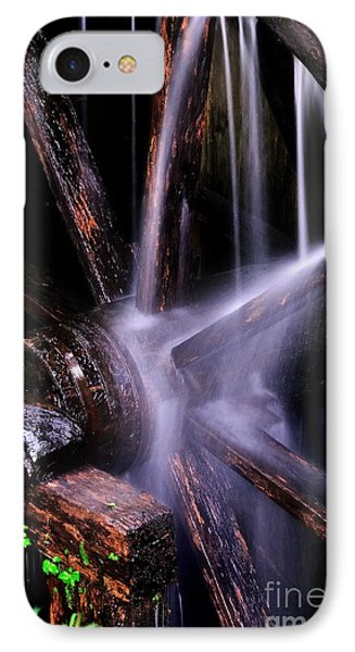 Water Over The Cable Mill Wheel IPhone Case
