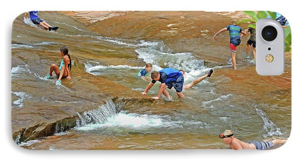 IPhone Case featuring the mixed media Water Play 3 by Lynda Lehmann