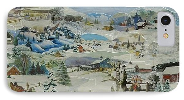 Water Pump In Winter - Sold IPhone Case by Judith Espinoza