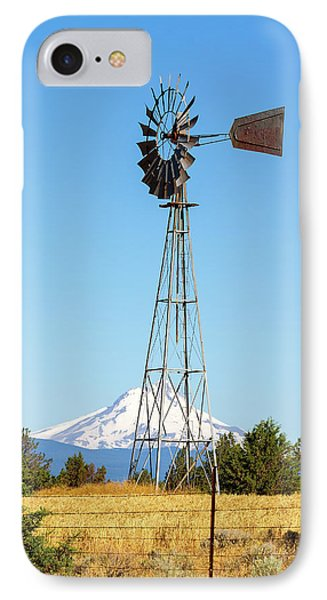 Water Pump Windmill In Central Oregon Farm Phone Case by David Gn