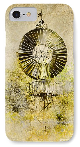 IPhone Case featuring the photograph Water-pumping Windmill by Heiko Koehrer-Wagner