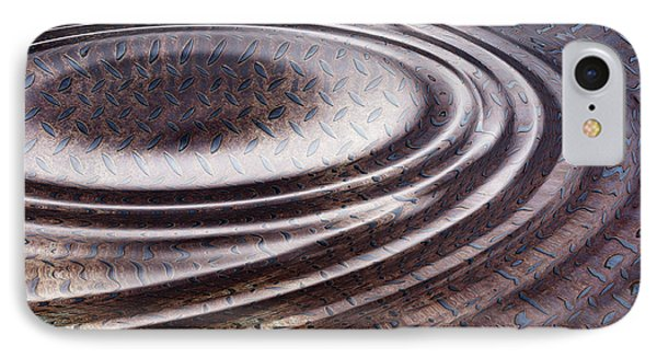IPhone Case featuring the digital art Water Ripple On Rusty Steel Plate  by Michal Boubin