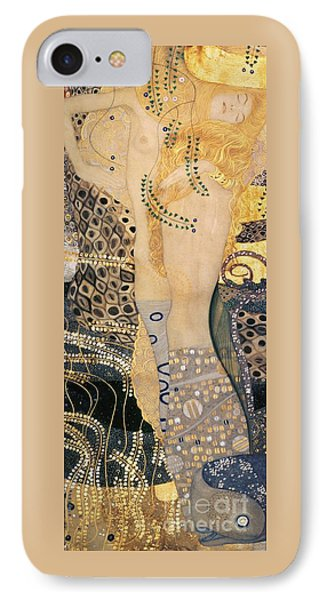 Water Serpents I IPhone Case by Gustav klimt