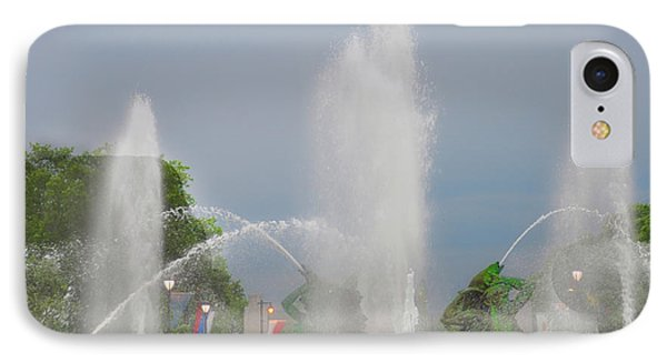 Water Spray - Swann Fountain - Philadelphia IPhone Case by Bill Cannon