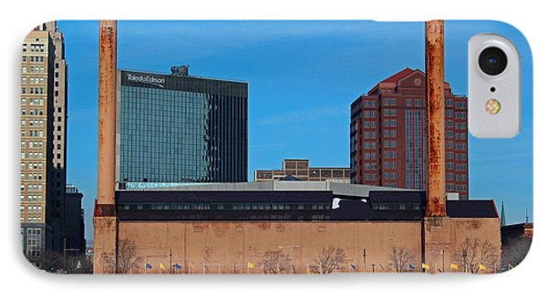 Water Street Steam Plant In Winter IPhone Case by Michiale Schneider