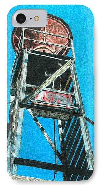 Water Tower Phone Case by Glenda Zuckerman