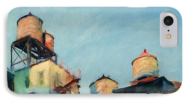 Water Towers At Sunrise No. 1 IPhone Case