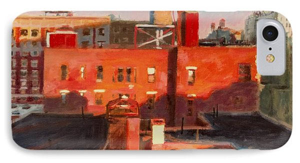 Water Towers At Sunset No. 3 Phone Case by Peter Salwen