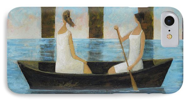 IPhone Case featuring the painting Water Under The Bridge by Glenn Quist