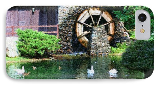 IPhone Case featuring the painting Water Wheel Duck Pond by Smilin Eyes  Treasures