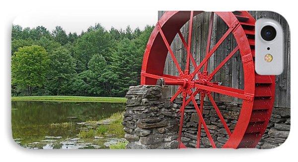 Water Wheel Vermont IPhone Case by Edward Fielding