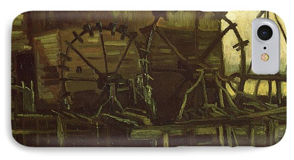 Water Wheels Of Mill At Gennep, 1884 IPhone Case by Vincent Van Gogh