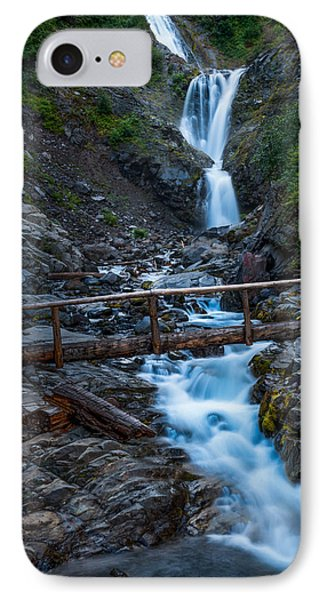 Waterall And Bridge IPhone Case by Chris McKenna