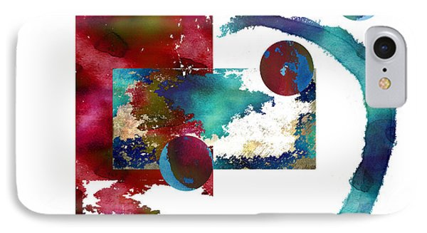 Watercolor Abstract 2 IPhone Case by Kandy Hurley