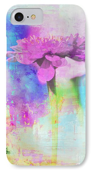 Watercolor Abstract Flower In Purple And Blue IPhone Case by Anahi DeCanio - ArtyZen Studios