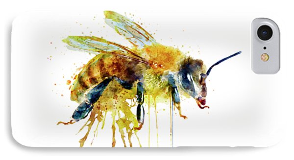 Watercolor Bee IPhone Case by Marian Voicu