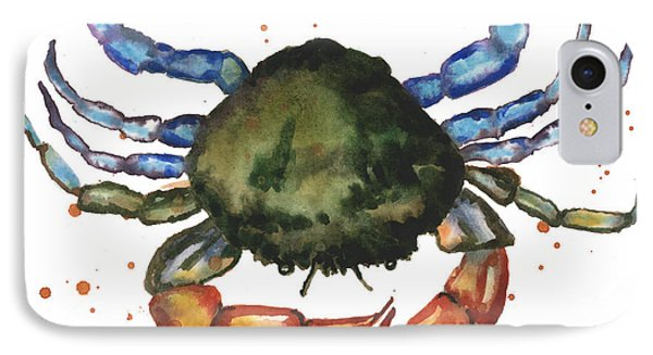 Watercolor Crab Painting IPhone Case by Alison Fennell