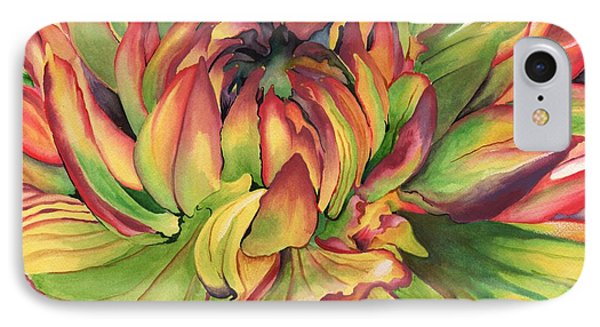 IPhone Case featuring the painting Watercolor Dahlia by Angela Armano