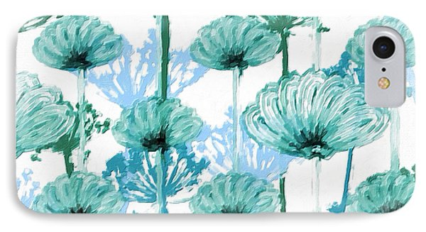 IPhone Case featuring the digital art Watercolor Dandelions by Bonnie Bruno