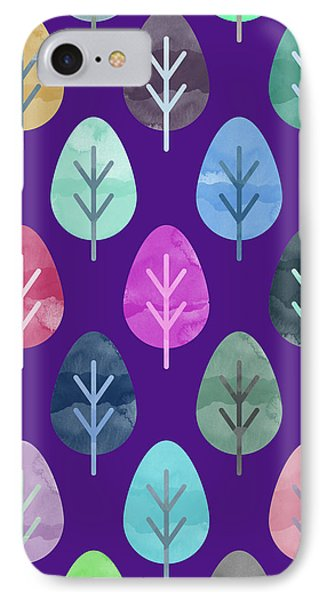Watercolor Forest Pattern II IPhone 7 Case by Amir Faysal