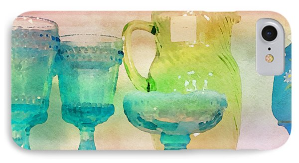 Watercolor Glassware II IPhone Case by Bonnie Bruno