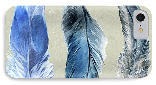 Watercolor Hand Painted Feathers Phone Case by Heinz G Mielke