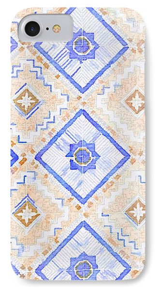 Watercolor Italian Ceramic Tile IPhone Case by Ariane Moshayedi