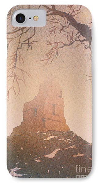 IPhone Case featuring the painting Watercolor Painting Of Mayan Temple- Tikal, Guatemala by Ryan Fox