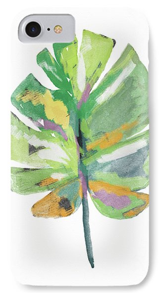 Watercolor Palm Leaf- Art By Linda Woods IPhone Case by Linda Woods