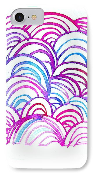Watercolor Scallops In Pink And Blue IPhone Case